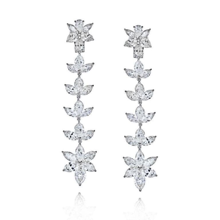 PLATINUM 22.12CT DIAMOND EARRINGS